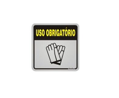 6a16a392c134e Central do EPI - Placa Uso Obrigatório de Luvas